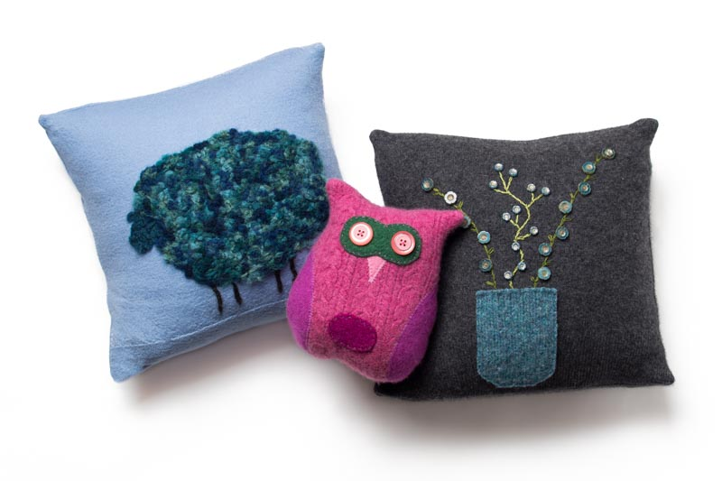 Tallulah's Satchels (Etsy) - tooth fairy pillow and throw pillows made from recycled cashmere.
