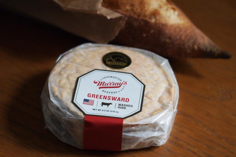 Greensward from Murray's Cheese - a washed rind, cow milk cheese.