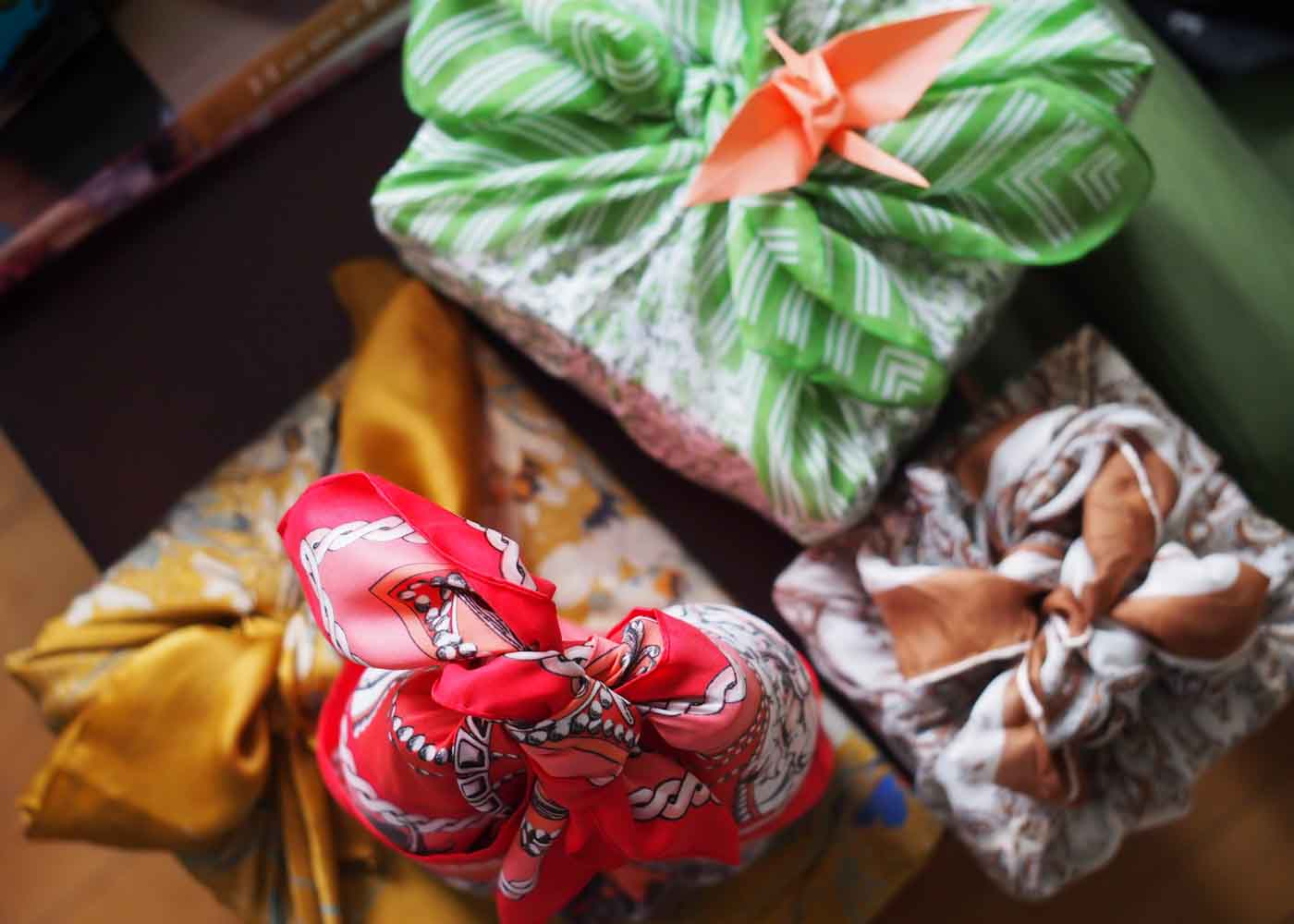 Furoshiki: the Japanese art of wrapping with cloth.