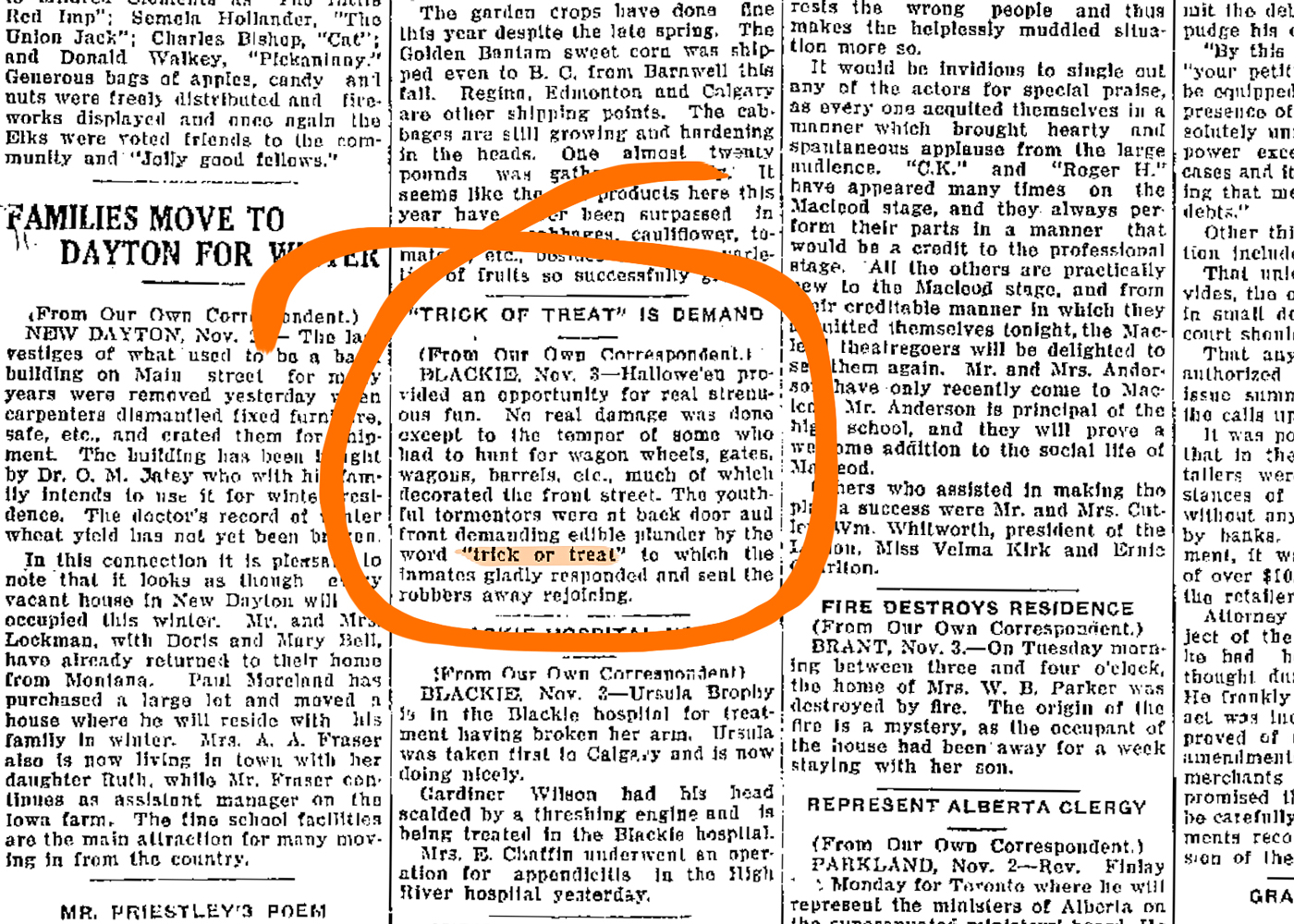 November 4, 1927: Possibly the first-ever use of the term