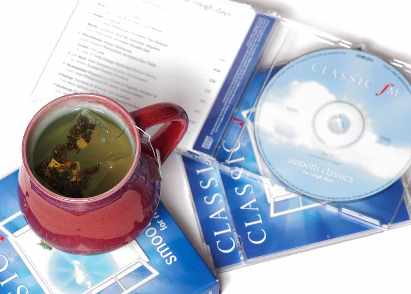 "A hot mug of tea and some of Classic FM's ""Smooth Classics for Rough Days"" = pure heaven."