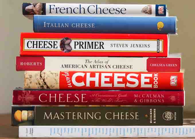 Some of my favorite books about cheese.