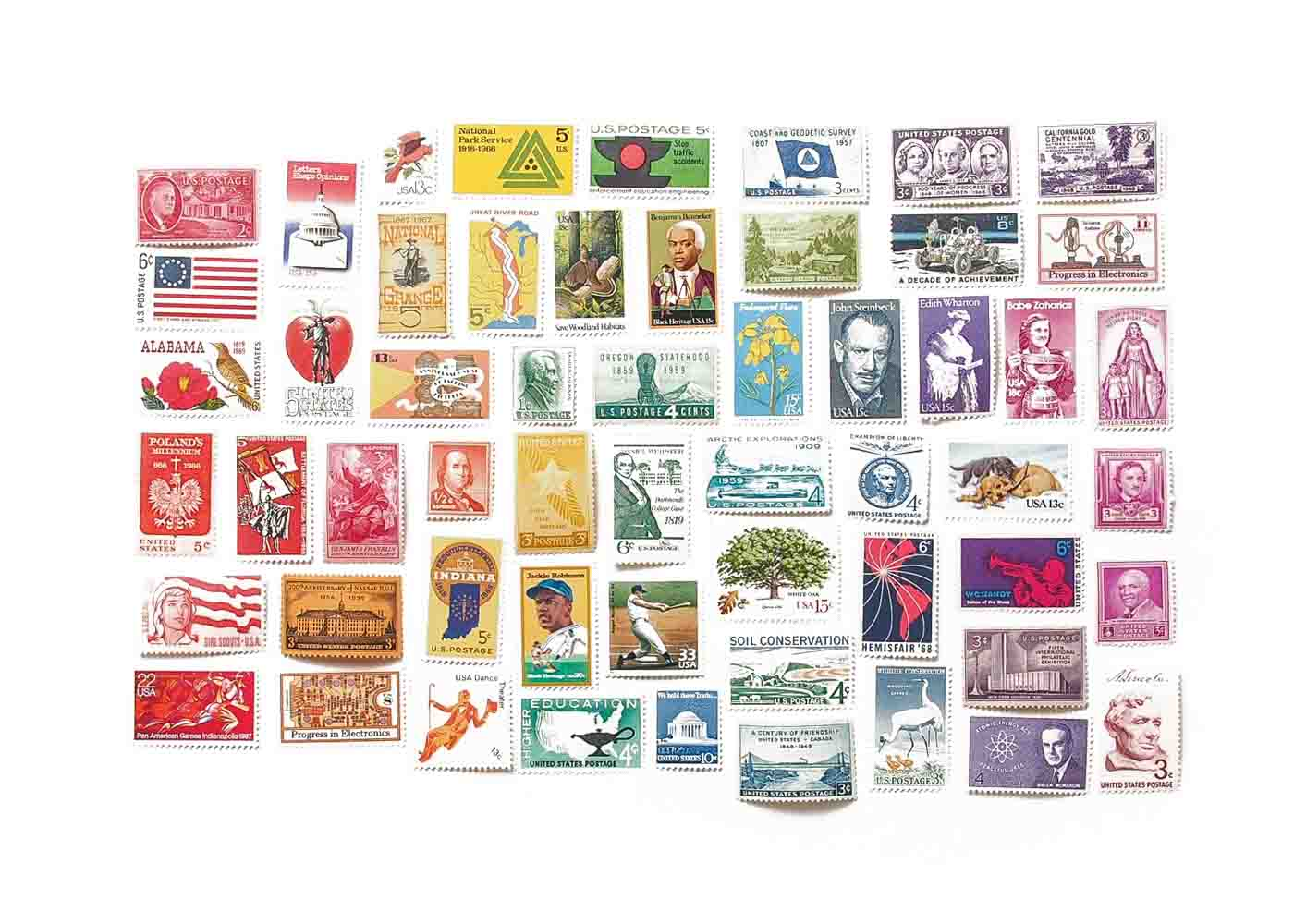 Vintage stamps are a great way to add a special flourish to one's correspondence.