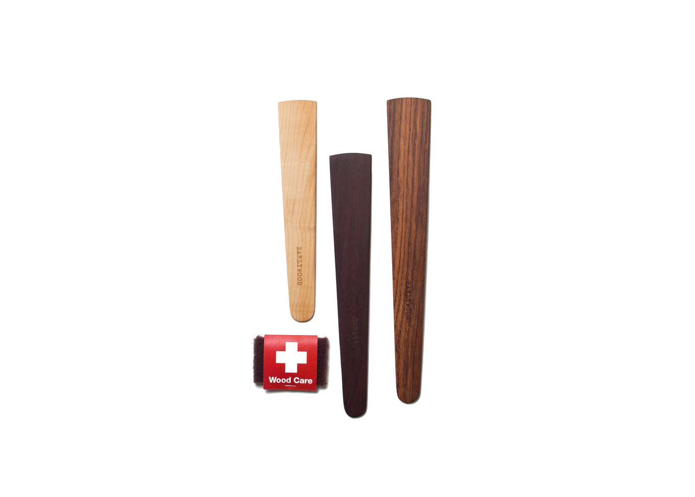 Earlywood's 'trifecta' of wooden spatulas.