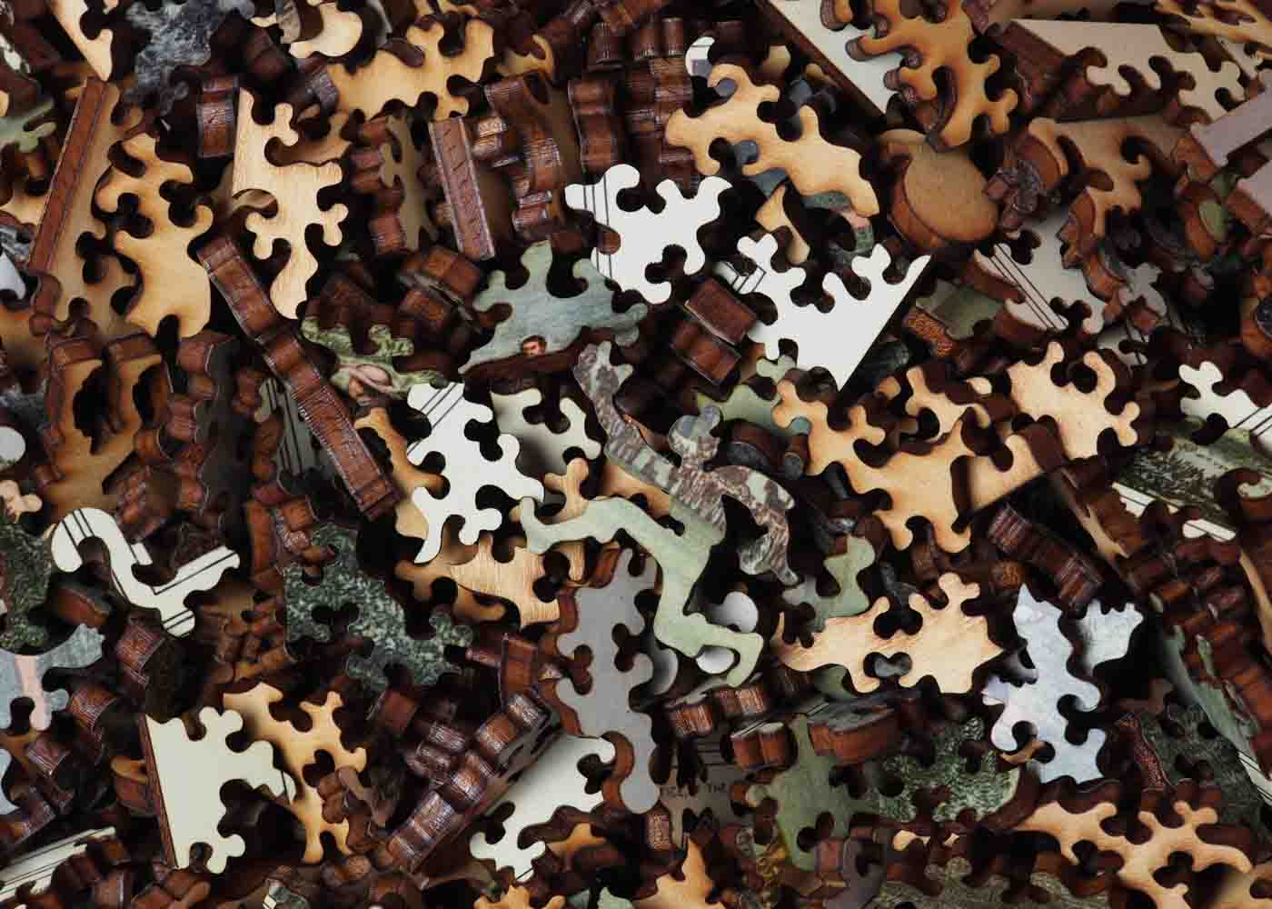 A wooden jigsaw puzzle is a great gift for puzzle-loving peeps.