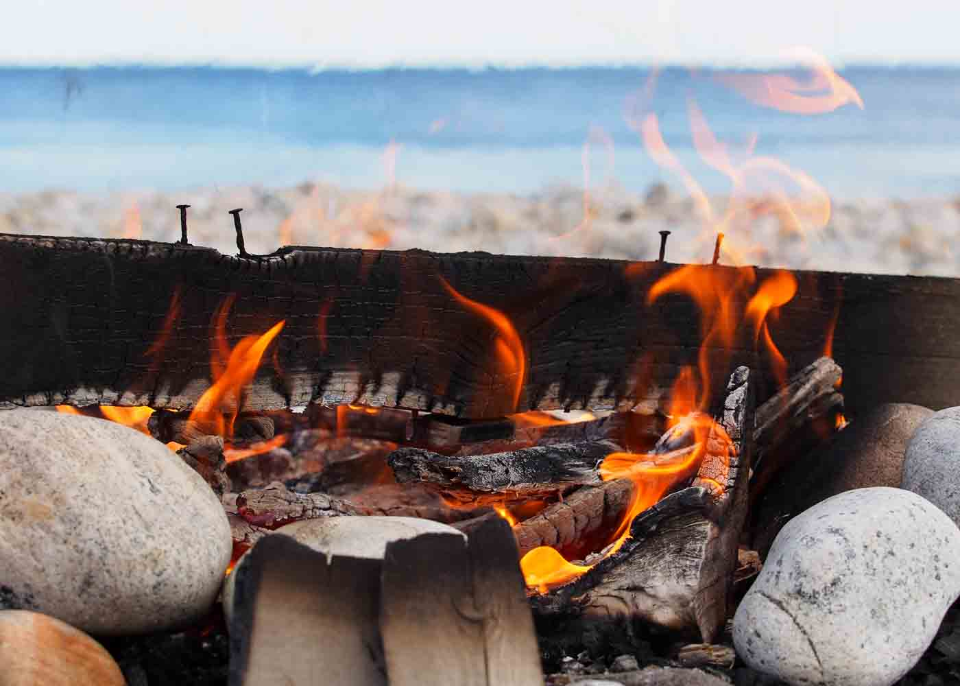 Beach picnics (complete with s'more roasting fires!) are one of our favorite ways of celebrating outdoors.