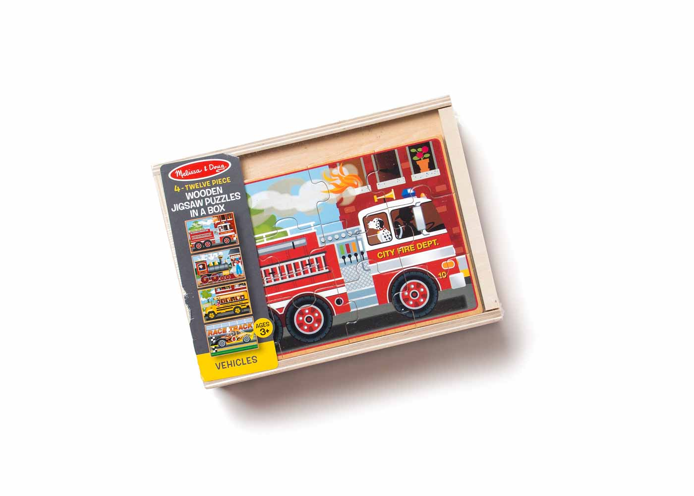 Melissa & Doug's vehicles puzzle set proved immensely popular.