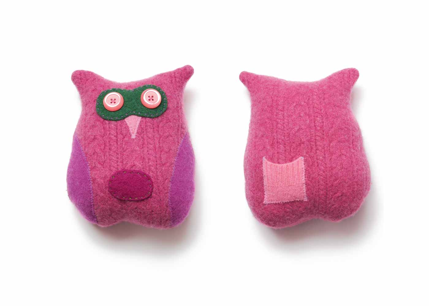 Front and back of a tooth fairy pillow by Tallulah's Satchels.