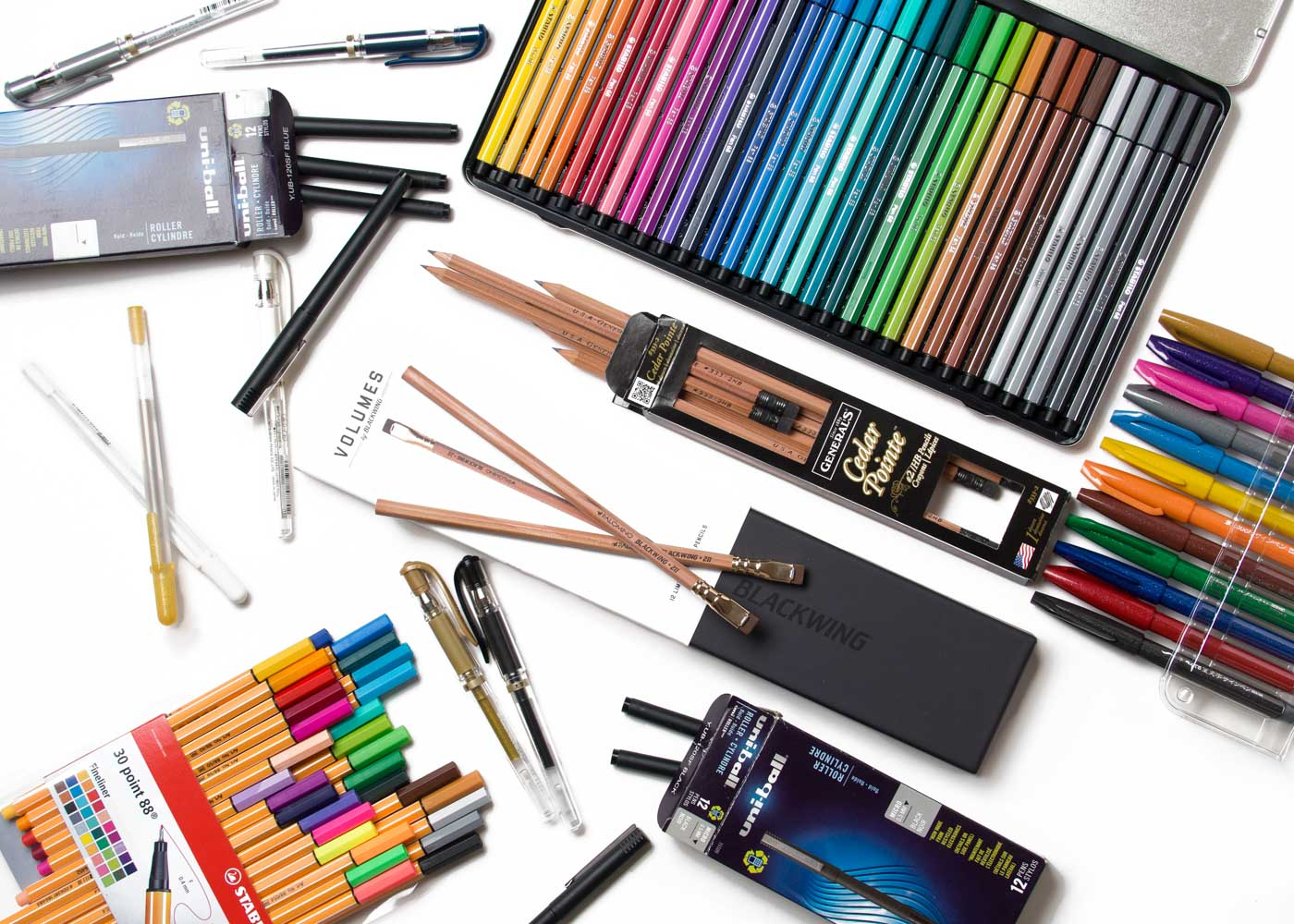 Some of the pens and pencils we ❤️.